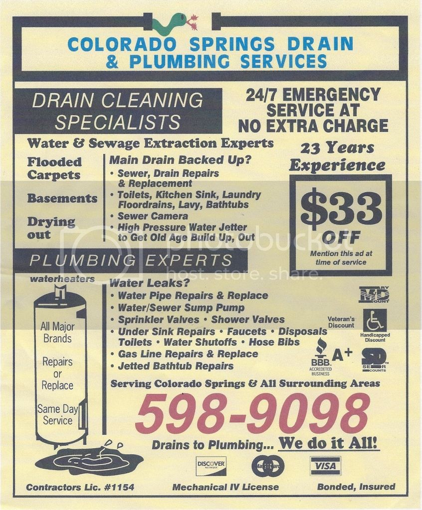 Colorado Springs Drain &amp; Plumbing Services